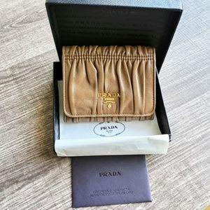 Beautiful Prada  Small Trifold leather Wallet